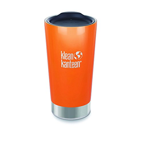 Klean Kanteen Stainless Steel Vacuum Insulated Tumbler (Canyon Orange with Lid, 16-Ounce)