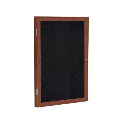 1 Door Enclosed Bulletin Board Size: 2' H x 1'6