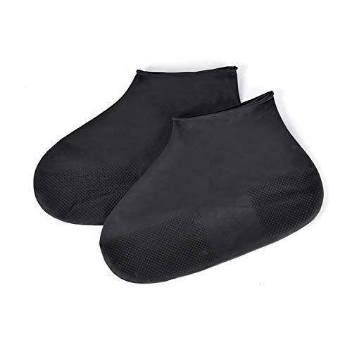 Reusable Latex Waterproof Rain Shoes Covers Slip-Resistant Rubber Rain Boot Overshoes Accessories,Black,S