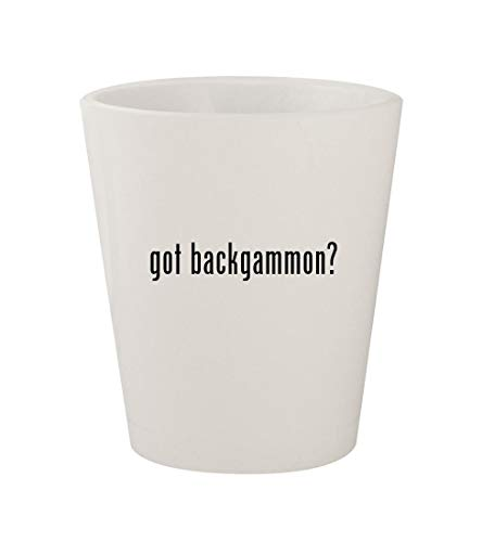 got backgammon? - Ceramic White 1.5oz Shot Glass
