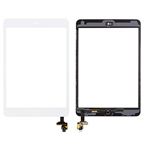PC Hardware : White Glass Screen Digitizer Complete Full Assembly for iPad mini & mini 2 with IC Chip, Home Button, OEM Adhesive