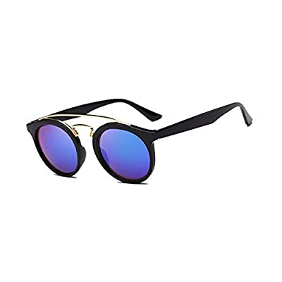 Vintage Brand Designer GATSBY Double Bridge Round Sunglasses Women Men Fashion Aviation Mirror Sun Glasses For Female