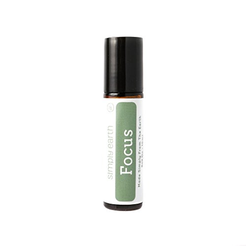 Focus Essential Oil Blend Roll-On Bottle by Simply Earth - 10ml, 100% Pure Therapeutic Grade by Simply Earth