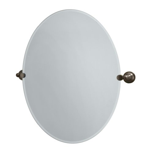 Gatco 4349LG Tiara Large Oval Wall Mirror, Bronze