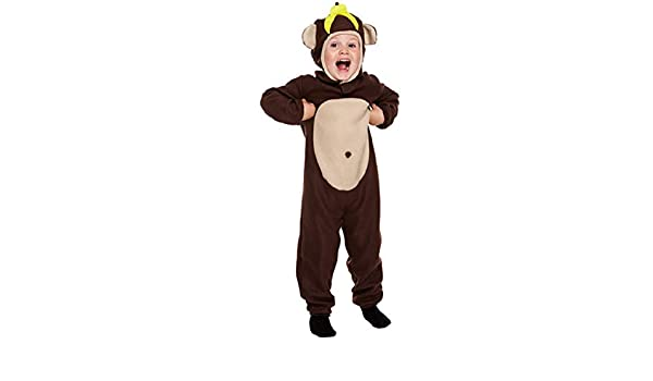 Jungle Monkey Kids Fancy Dress Animal Zoo Book Boys Girls Childrens Costume 4-9