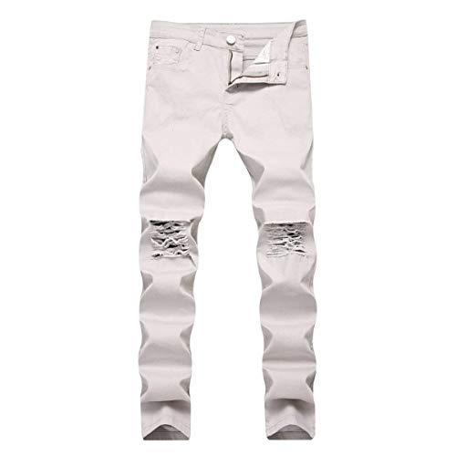 Pantalones Hombres Cintura Grey Ropa Mezclilla De Pantalones Los Ajustados ADELINA Rasgados Elásticos De Estiramiento Altos Mediados Pantalones Pantalones Vaqueros Vaqueros De Mezclilla Vaqueros De Xwzd4q