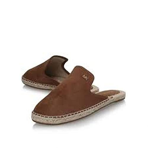 Michael Michael Kors Hastings Espadrilles Slide Shoes (6) Dark Caramel
