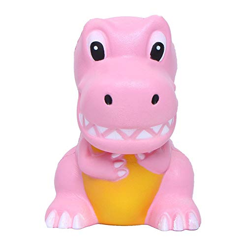 Price comparison product image FIN86 Squishies - Cute Dinosa Squishy Slow Rising Squishy Shiny Paint Soft Kawaii Lovely Animal for Stress Relief and Time Killing Scented Squishy Toy (Pink)