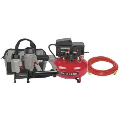 PORTER-CABLE CFFN251N Two Nailer 2-1/2-Inch Finish and 1-1/4-Inch Brad and Compressor Combo Kit