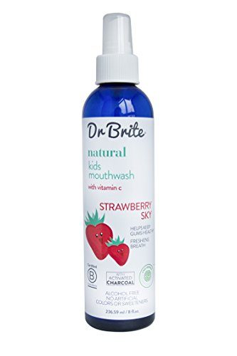 Dr. Brite Natural Kids Mouthwash, Strawberry Sky, 8 Fluid Ounce