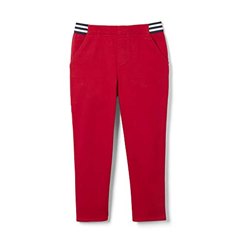 French Toast Girls' Little Stretch Skinny Pull-On Capri Pant, Red 5 ()
