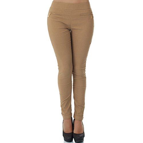 skinny mujer malucas marrón Pantalón claro para 6wAqx5rA