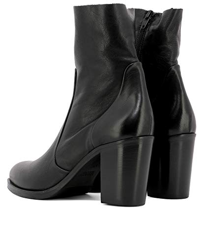 Strategia Women's Ankle Leather Boots P2327birknature Black rrdwqY4