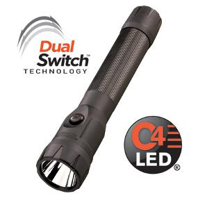 The Streamlight PolyStinger DS LED Rechargeable Flashlight Features Dual Switch and Powerful C4 LED Technologies
