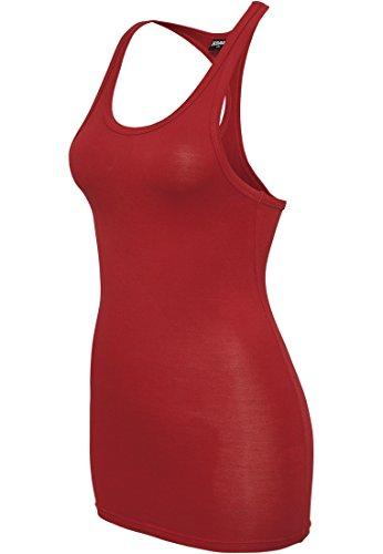 Urban Classics Top Ajustado de Viscosa Racerback para Chicas Top Mujer Rojo Red