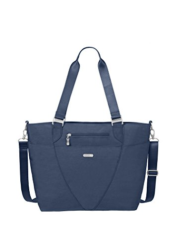 - Baggallini Avenue Tote Bag - Lightweight, Water Resistant, Carry-On Travel Purse With Zippered Pockets and Laptop Sleeve