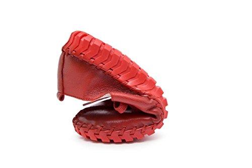 Eur De Soft eur35uk3 Mujeres Flats 35 Partido Otoño Nueva Bombas Moda Strappy Redonda uk Bottom 3 Únicos Cuero No Deslizantes Red Genuino Señoras Primavera Trabajo Nvxie Ocio Cabeza Zapatos 6q8wxgffn