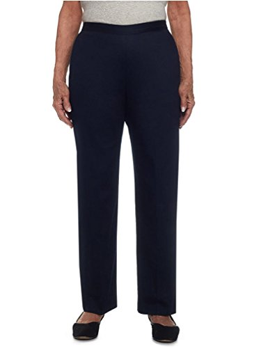 Alfred Dunner Womens Petite Short Pant Clean Front Back