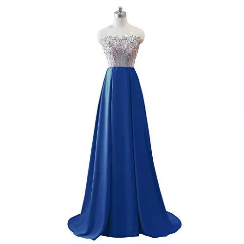 Mermaid Wasserblau Frauen Lange Formale Kleider V Party Abendkleid Ausschnitt Doppel dqzSnrxqvw