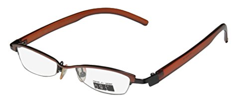 Ogi 2170 Womens/Ladies Prescription Ready Trusted Luxury Brand Designer Half-rim Eyeglasses/Glasses (45-18-140, Brown / - Glasses Bottom Half Rim