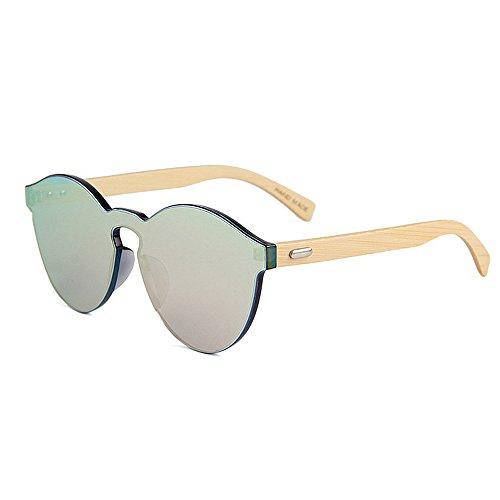 soleil KOMEISHO colorée Couleur Marron la seule Rose Style femmes hommes lunettes pour à jambe protection de pièce main Fait une lentille unisexe bambou UV FwqFAOr
