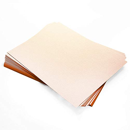 Curious Metallics Nude Cardstock - 27.5 x 39.37, 111lb Cover, 25 Pack by LCI Paper
