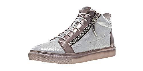 (J75 by Jump Men's Zack Mid-Top Fashion Sneaker Silver Snake 10 D US)