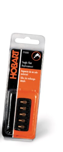 Hobart 770081 Replacement Flints for Single Flint Striker, 5-Pack
