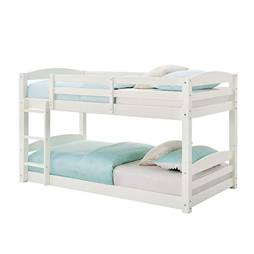 Max & Finn AX7891W Bunk Bed, White, Black (Bunk Beds For Toddlers)