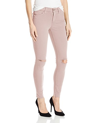 Joe's Jeans Women's Flawless Distressed Color Icon Midrise Skinny Ankle Jean, Pink, 32 - Joes Distressed Jeans