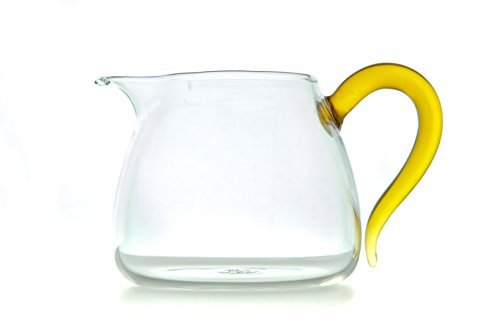 Small Glass Tea Serving Pitcher - Gold Handle Solid Glass (350ml - 11.8 oz) - Perfect for Gong Fu (gongfu) - Made Exclusively for Bamboo Mist Tea with Logo