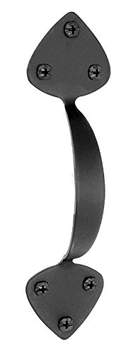 Acorn Manufacturing APDBP 7.75 Inch Door Pull, Black Iron Finish - Acorn Iron Pull