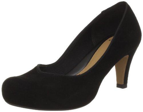 Clarks Chorus Voice 20352883 - Zapatos de vestir para mujer Negro (Black Sde)