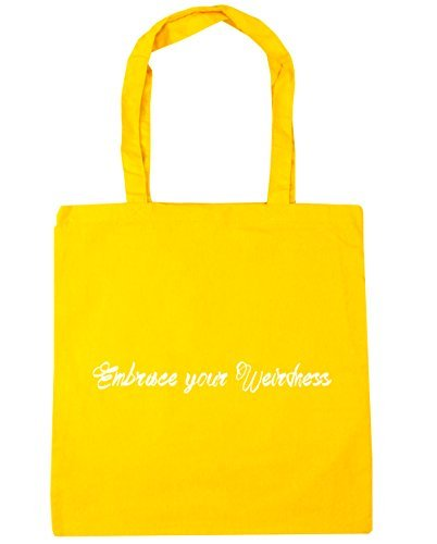 Embrace your weirdness Tote Shopping /& Gym /& Beach Bag 42cm X 38cm with Handles By Valentine Herty
