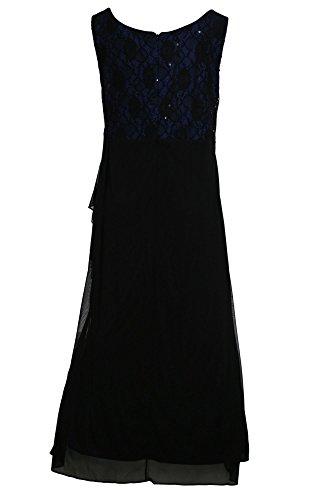 Sheego Abendkleid Ballkleid Kleid Damen Kurzgröße Schwarz I5U9n