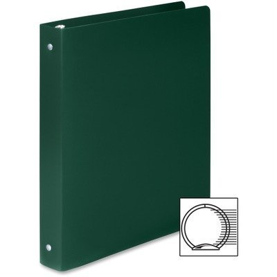 ACCO : Accohide Poly Ring Binder w/35-Pt. Cover, 1in Capacity, Forest Green -:- Sold as 2 Packs of - 1 - / - Total of 2 Each