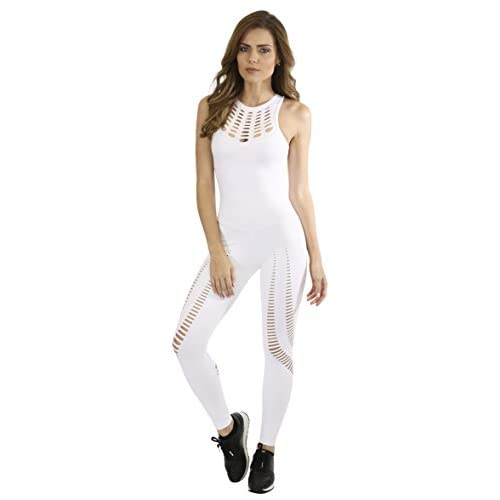 Brazilian Workout Jumpsuit - Rio Laser Cut One Piece White supplier