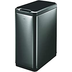 EKO Trash Can, Black Stainless Steel, 50L