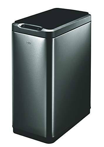 EKO Trash Can, Black Stainless Steel, 50L