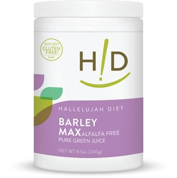 Barleymax luzerne gratuit 8,5 oz Poudre, Hallelujah Acres