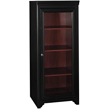 Amazon.com: Bush Furniture Stanford Audio Cabinet, Antique Black ...