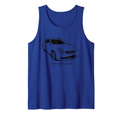 (G35 JDM Drift Car T-shirt Fast 350GT Track & Street Race 350 Tank Top)