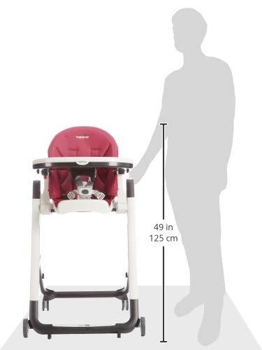 Lederimitat-Bezug Peg Perego Siesta Follow Me magenta Design-Hochstuhl mit Baby-Liegefunktion und Stop/&Go-System mit Memory-Funktion Berry