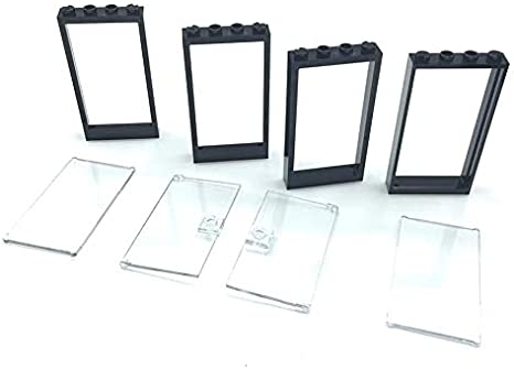 Lego Doors 1x4x6 White Door Frames With Trans Clear Glass Doors Set Of 4 House