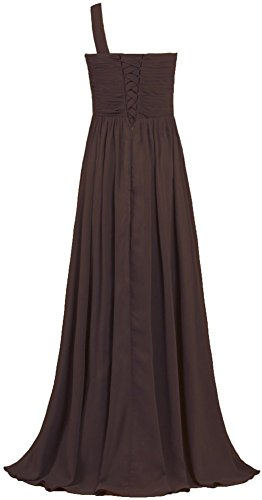 Abendkleider Fanciest Shoulder Kleider Damen Ballkleider Chiffon Purple Lang Brown Brautjungferkleider One qrrtx0