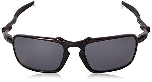 9ab6b0b9dd Oakley Men s Badman OO6020-01 Polarized Iridium Rectangular Sunglasses