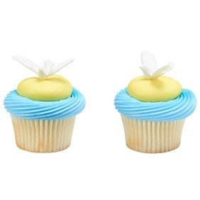 Baptism Dove Christening Spiritual First Communion Cupcake Cake Topper Picks - Set of 24 -