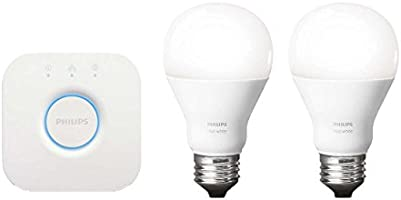 Philips Hue 929001136901 Blanco, Kit Inicial, 9.5W A19 E26 set US