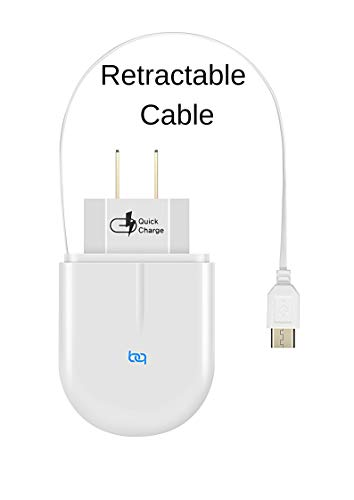Charger Retractable Travel Wall (USB c Fast s8 Charger - Type C Wall Chargers with Retractable Cable Compatible with Samsung Galaxy s8 s9 note8 note9 Note s Plus 8 9 usbc Nintendo Switch Google Pixel Phone)