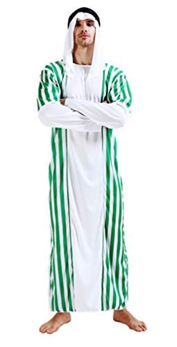 Maxim Party Supplies Men's Arab Sheik Adult Costume - Halloween - Includes Robe | Headdress]()